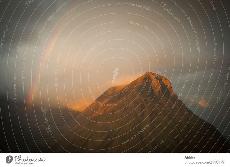 Die Verbindung steht Landschaft Einsamkeit dunkel Berge u. Gebirge Religion & Glaube Liebe Stimmung wild leuchten fantastisch einzigartig Energie Klima Romantik