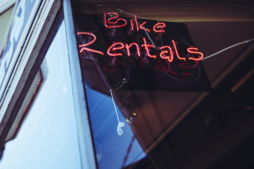 Roadtrip West Coast USA (200) Zeichen Schriftzeichen Ziffern & Zahlen Schilder & Markierungen Hinweisschild Warnschild Bewegung Verleih verleihen Fahrrad