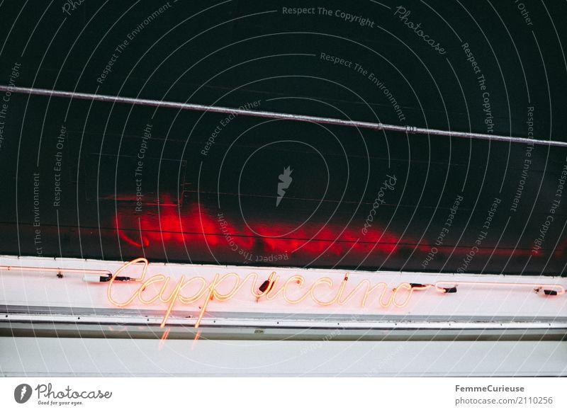 Roadtrip West Coast USA (201) Zeichen Schriftzeichen Ziffern & Zahlen Schilder & Markierungen genießen Cappuccino Leuchtreklame rot orange Kaffee Café