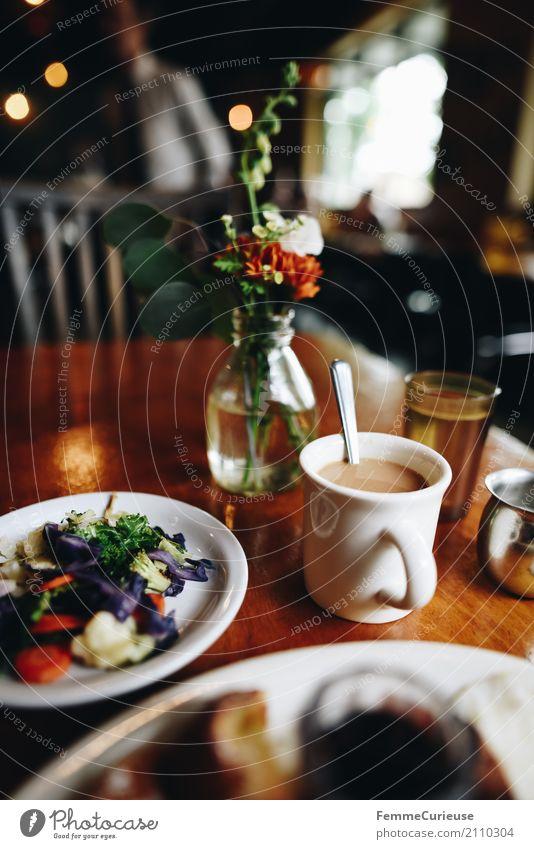 Roadtrip West Coast USA (206) Lebensmittel Ernährung genießen Kaffee Gemüse Westküste Frühstück Frühstückstisch Brunch Café Restaurant Straßencafé Blume