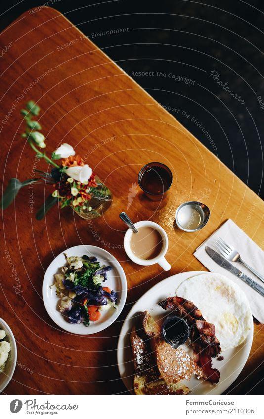Roadtrip West Coast USA (208) Lebensmittel Ernährung genießen Café Straßencafé Restaurant Westküste Tischdekoration Kaffee Gemüse Spiegelei french toast