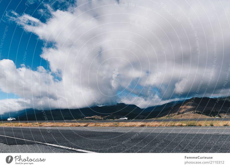 Roadtrip West Coast USA (185) Natur Verkehr Verkehrswege Personenverkehr Straßenverkehr Autofahren Bewegung Kalifornien Westküste Wolken beeindruckend