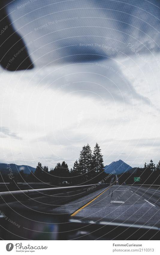 Roadtrip West Coast USA (183) Verkehr Verkehrsmittel Verkehrswege Personenverkehr Straßenverkehr Autofahren Abenteuer Windschutzscheibe Berge u. Gebirge