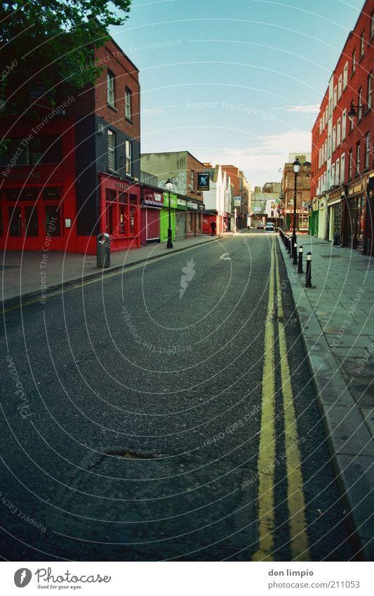Ausgangssperre ruhig Sommer Haus Wirtschaft Feierabend Energiekrise Ölkrise Dublin Republik Irland Europa Hauptstadt Stadtzentrum Fußgängerzone Menschenleer