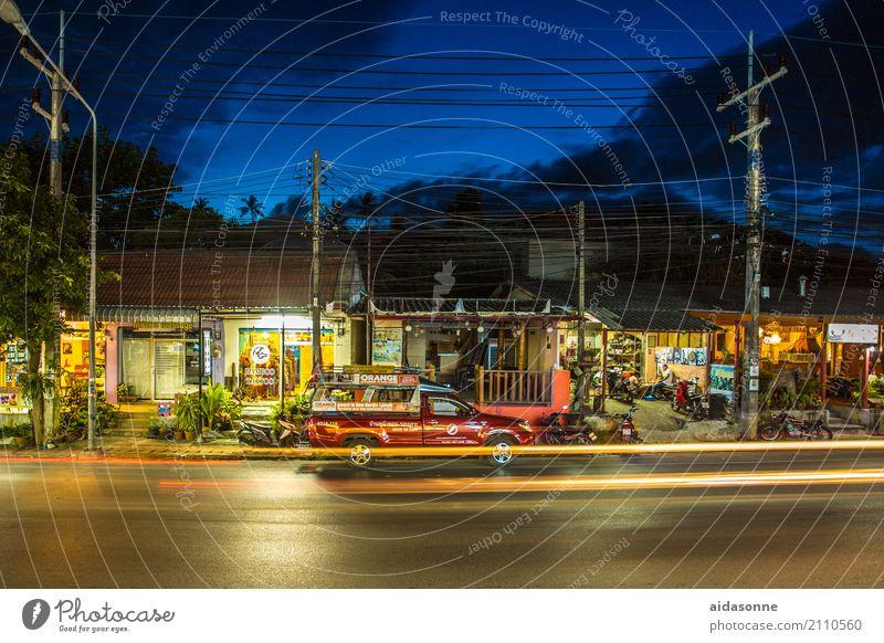 Koh Samui Verkehr Verkehrsmittel Personenverkehr Straßenverkehr Autofahren PKW Taxi Ringstrasse samet Thailand Tuc-Tuc lamai Farbfoto Außenaufnahme Menschenleer