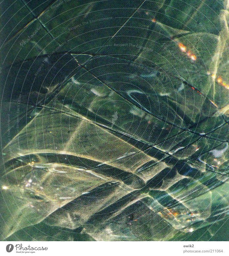 Iris Design Glas glänzend leuchten außergewöhnlich bizarr Gardine Streifen durchscheinend Farbfoto Gedeckte Farben Innenaufnahme Nahaufnahme Experiment abstrakt