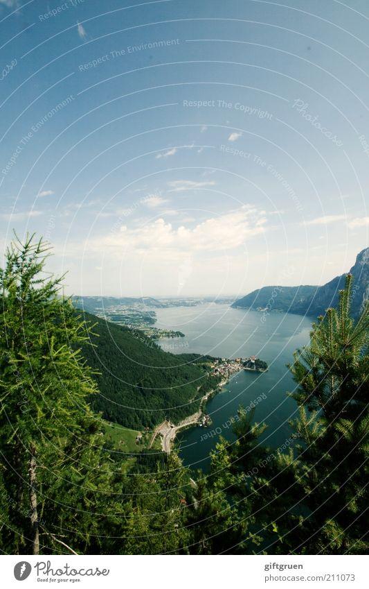 923 m ü. A. Natur schön Himmel Baum Sommer Ferien & Urlaub & Reisen Ferne Berge u. Gebirge See Landschaft Umwelt Horizont hoch Ausflug Tourismus Aussicht