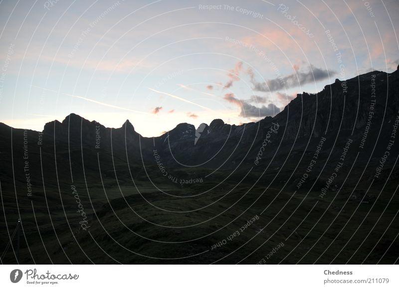 Alp(en)traum Natur Berge u. Gebirge Landschaft Ausflug Alpen Gipfel Bergwiese Wolkenhimmel Erholungsgebiet