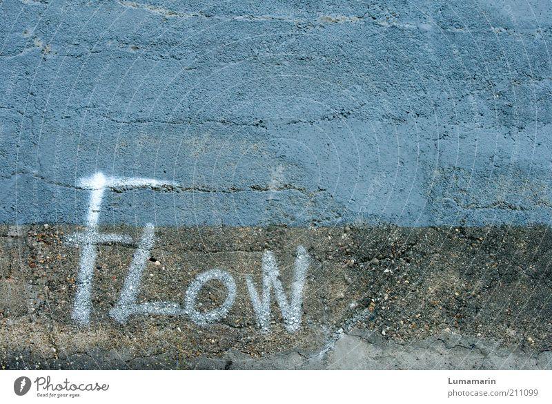 let it ... alt blau Farbe Wand Gefühle grau Stein Mauer Graffiti Fassade Schriftzeichen einzigartig Zeichen Leidenschaft Langeweile Kreativität