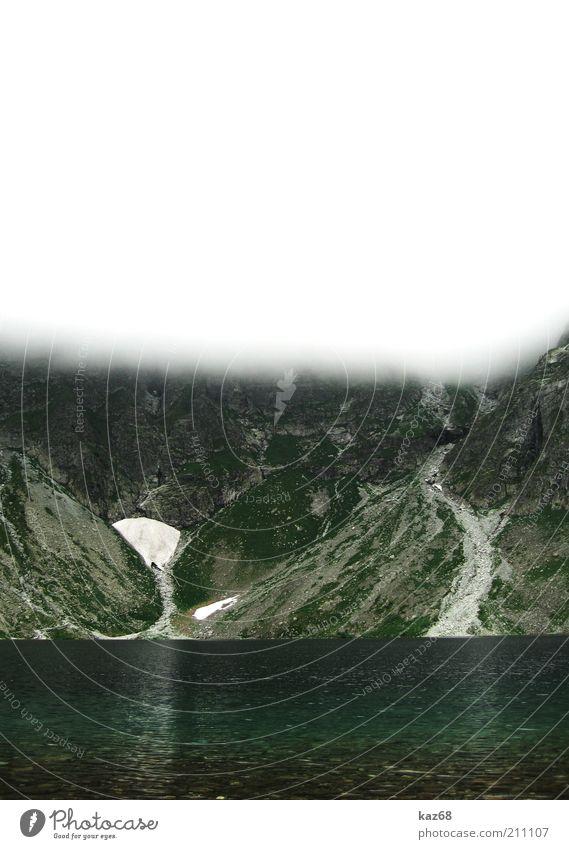 Hohe Tatra Natur Wasser Himmel Ferien & Urlaub & Reisen Wolken kalt Schnee Berge u. Gebirge Stein See Landschaft Umwelt nass Felsen Ausflug frisch