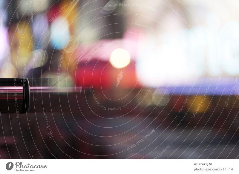 Night Life. hell glänzend Design ästhetisch Lifestyle Werbung Scheibe Neonlicht New York City Manhattan abstrakt Lichtpunkt wach Nachtleben Lichtstreifen
