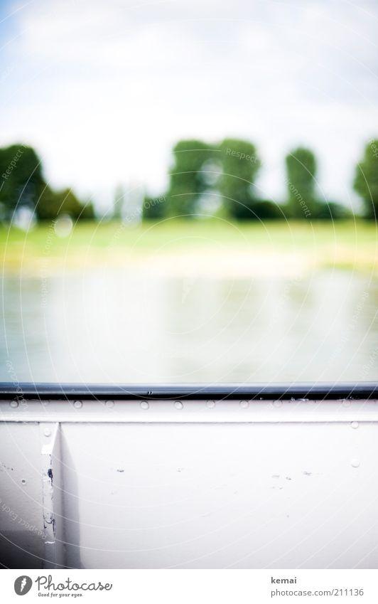 Die Überfahrt Natur Wasser weiß Baum Pflanze Sommer Wärme Landschaft Wasserfahrzeug hell Umwelt Fluss Schifffahrt Schönes Wetter Flussufer Rhein