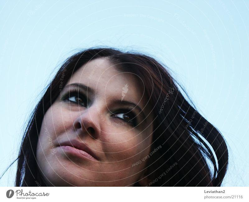 J.S.H. - 'Windbild' Mensch Himmel blau lachen Graffiti verträumt hell-blau