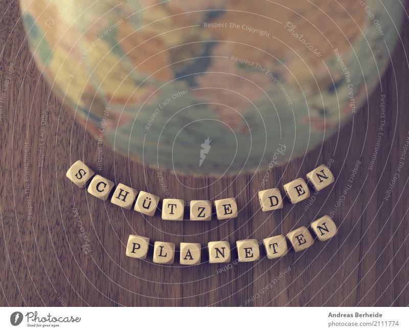 Schütze den Planeten Natur Business Erde retro Zukunft bedrohlich Symbole & Metaphern Umweltschutz nachhaltig ökologisch Zerstörung Klimawandel Gegenwart