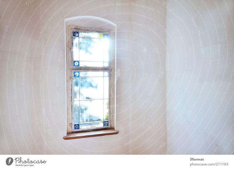 FENSTER schön alt ruhig Haus Wand Fenster Mauer hell glänzend leer Hoffnung Romantik Vergänglichkeit Burg oder Schloss Vergangenheit Glaube