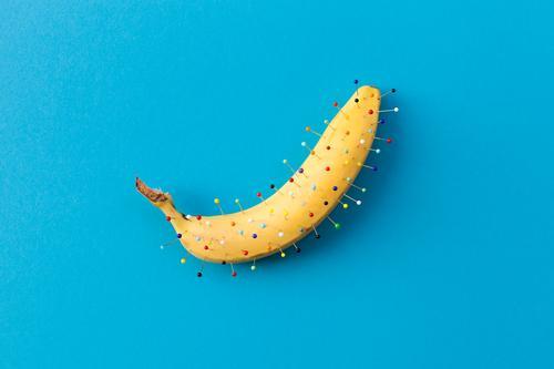 bananadel Lebensmittel Frucht Banane Bananenschale Ernährung Kunst Dekoration & Verzierung Nadel ästhetisch außergewöhnlich Fröhlichkeit einzigartig lustig