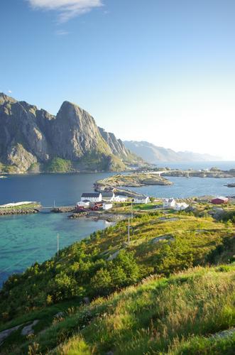 Reine, Lofoten, Inselatmosphäre harmonisch Zufriedenheit Sinnesorgane Erholung ruhig Ferien & Urlaub & Reisen Ausflug Abenteuer Ferne Sommerurlaub Landschaft