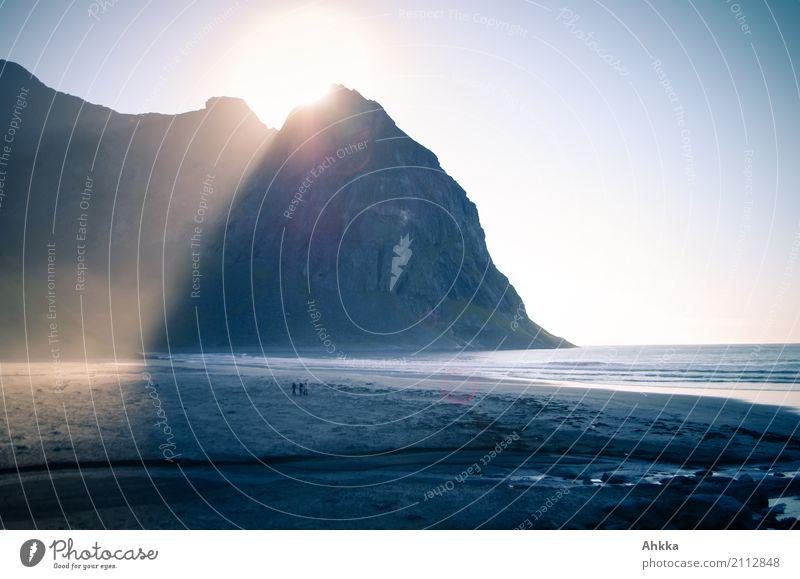 *600* Der richtige Moment Wasser Sonne Landschaft ruhig Strand Religion & Glaube Küste Glück Stimmung Sand Zufriedenheit leuchten Schönes Wetter einzigartig