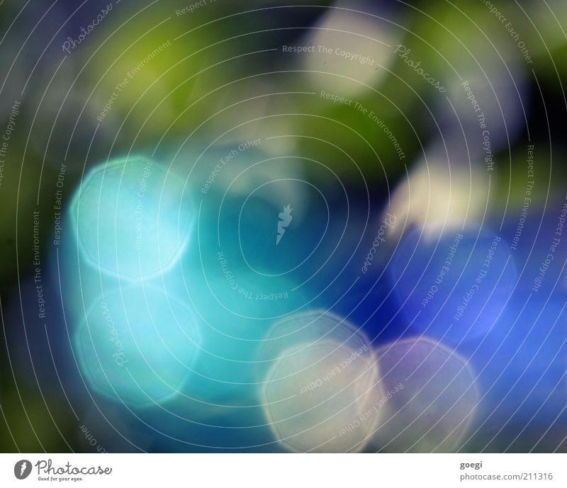 8 Lamellen weiß grün blau Farbe grau glänzend Glas ästhetisch Kitsch leuchten Licht abstrakt Reflexion & Spiegelung