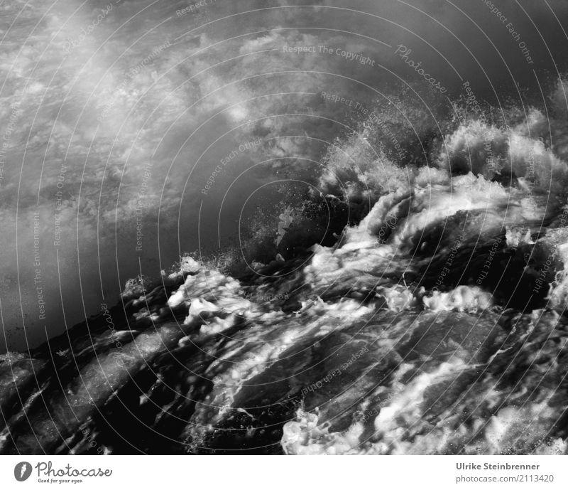 Wasserkraft | The Dark Side Natur dunkel Umwelt kalt Frühling natürlich Bewegung wild Wellen Luft Kraft Abenteuer Schönes Wetter Geschwindigkeit nass