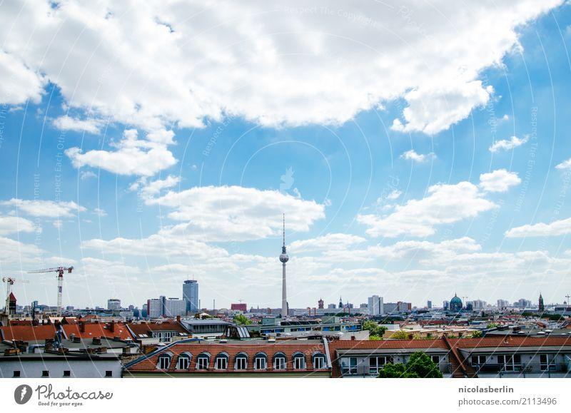 Berlin Mitte Himmel Ferien & Urlaub & Reisen Sommer Haus Wolken Ferne Umwelt Frühling Freiheit Tourismus Fassade Wohnung Häusliches Leben Ausflug