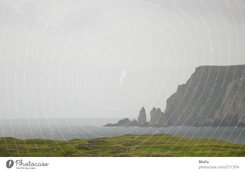 Old Man Standing Natur Wasser Himmel Meer grün Ferien & Urlaub & Reisen ruhig Ferne Wiese Freiheit grau Landschaft Stimmung Küste Wetter Umwelt