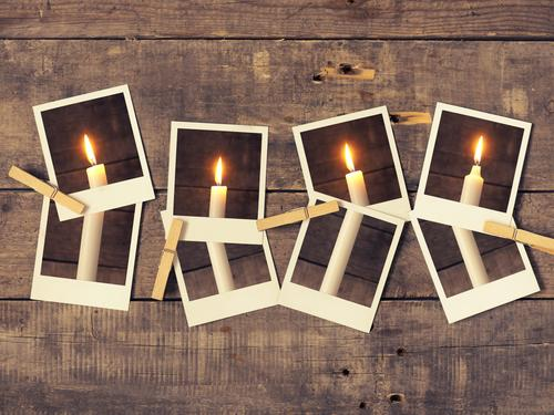 Vierter Advent Winter Weihnachten & Advent retro Tradition candle candlelight card merry conceptual december fourth eve old stylized wooden Adventskranz