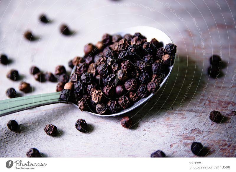 Pfeffer dunkel schwarz Essen Gesundheit natürlich klein Lebensmittel braun Ernährung frisch kaufen rund Sauberkeit Kräuter & Gewürze viele trocken