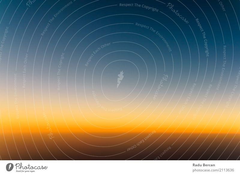 Luftbild von Ocean Sunset Himmel Natur Ferien & Urlaub & Reisen blau Sommer Farbe schön Wasser Sonne Landschaft Meer Einsamkeit ruhig Ferne Umwelt gelb