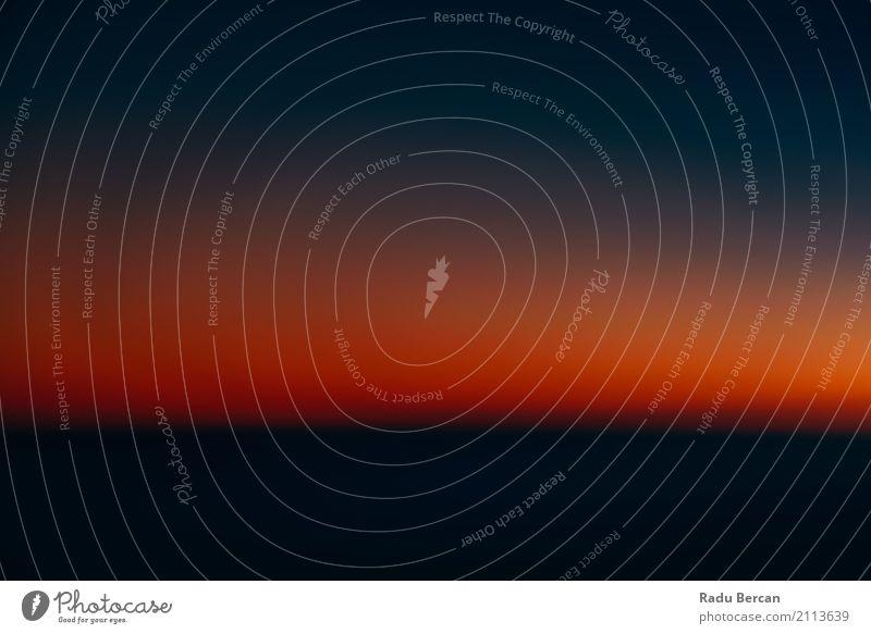 Luftbild von Ocean Sunset Himmel Natur Ferien & Urlaub & Reisen blau Sommer Farbe schön Sonne Landschaft Meer rot Einsamkeit ruhig schwarz Umwelt natürlich