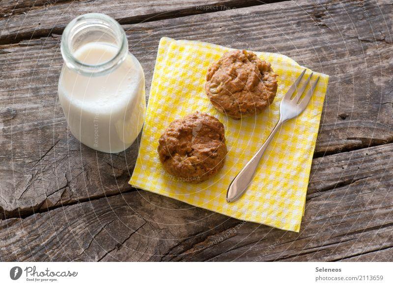 Küchlein Lebensmittel Ernährung Glas genießen süß Getränk lecker Süßwaren Getreide Bioprodukte Kuchen Dessert Backwaren Vegetarische Ernährung Teigwaren Besteck