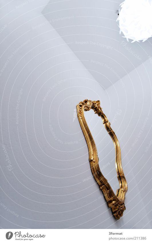 SPIEGEL Mauer Wand leuchten hell trendy hoch Kitsch trashig gold weiß Spiegel Barock ornamental Wandspiegel Decke Lampe Lampenschirm Deckenlampe Design Stil