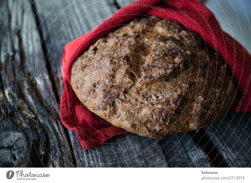 Landbrot Essen Holz Lebensmittel Ernährung lecker Bioprodukte Brot Backwaren Vegetarische Ernährung Teigwaren backen Küchenhandtücher knusprig