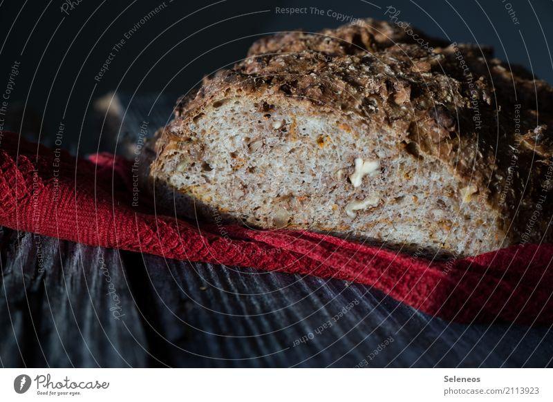 mit Nüssen Lebensmittel Teigwaren Backwaren Brot Ernährung Abendessen Bioprodukte Vegetarische Ernährung Gesundheit lecker backen Nuss Walnuss Farbfoto
