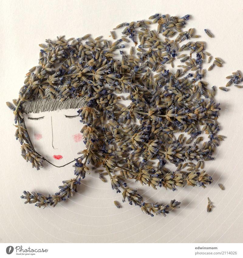 Miss Lavender Freizeit & Hobby Basteln Sommer feminin Natur Pflanze Blüte Lavendel langhaarig Papier Dekoration & Verzierung Duft schlafen träumen frei hell