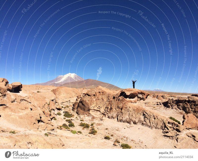 Bolivien Mensch Natur Ferien & Urlaub & Reisen Landschaft Ferne Berge u. Gebirge Leben Umwelt Freiheit Tourismus Sand Felsen Ausflug wandern Erde Abenteuer