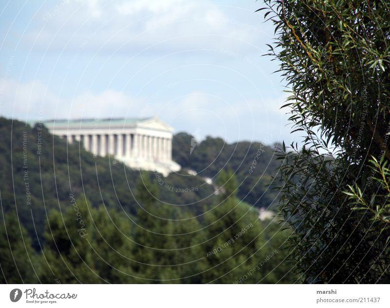 Ruhmeshalle Natur Himmel grün Pflanze Sommer Frühling Architektur Denkmal Vergangenheit Bauwerk Wahrzeichen Halle Säule antik Sehenswürdigkeit Tempel