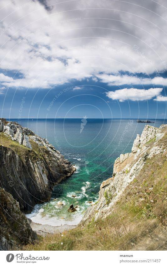 Bretagne I, am Pointe de Menhir Natur Himmel Meer Sommer Ferien & Urlaub & Reisen Wolken Ferne Freiheit Landschaft Küste Horizont Felsen Tourismus