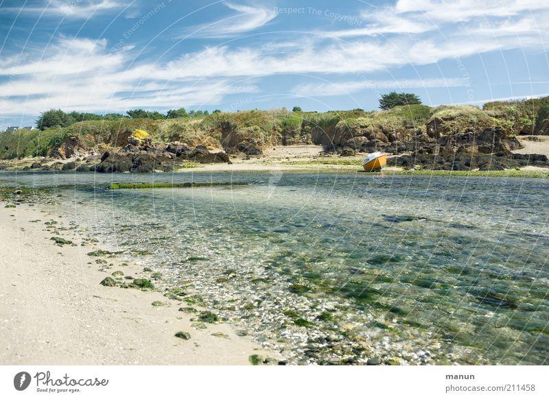 Bretagne II, l'Aber Natur Wasser schön Meer Sommer Strand Ferien & Urlaub & Reisen Ferne Sand Landschaft Küste Umwelt Felsen Tourismus Fluss Idylle