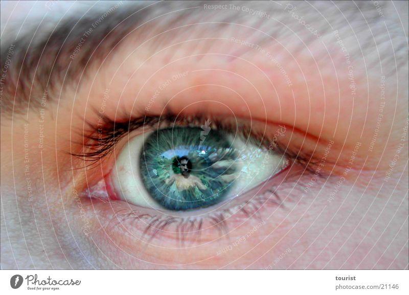in your eyes Mensch Hand Auge Pupille Objektiv