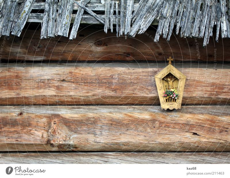Jesus Haus Gefühle Holz Gebäude Stimmung Religion & Glaube Kraft Hoffnung Sicherheit Schutz Vertrauen Christliches Kreuz Mut Hütte Geborgenheit
