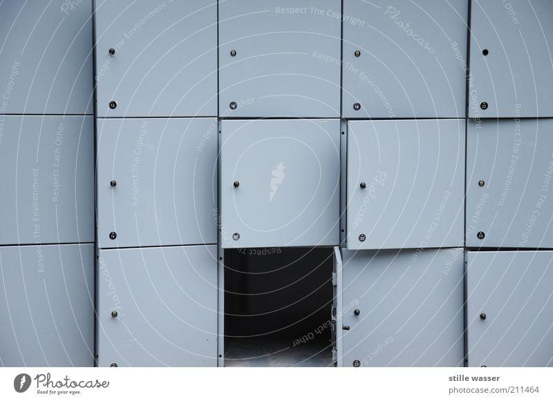 TAG DER OFFENEN TÜR Schloss Schlüssel eckig grau schwarz Sicherheit Schließfach Kontrast offen aufbewahren Lager