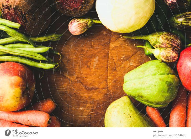 Früchte und Gemüse Lebensmittel Frucht Apfel Ernährung Essen Bioprodukte Vegetarische Ernährung Diät frisch Gesundheit gut lecker reich saftig Sauberkeit sauer