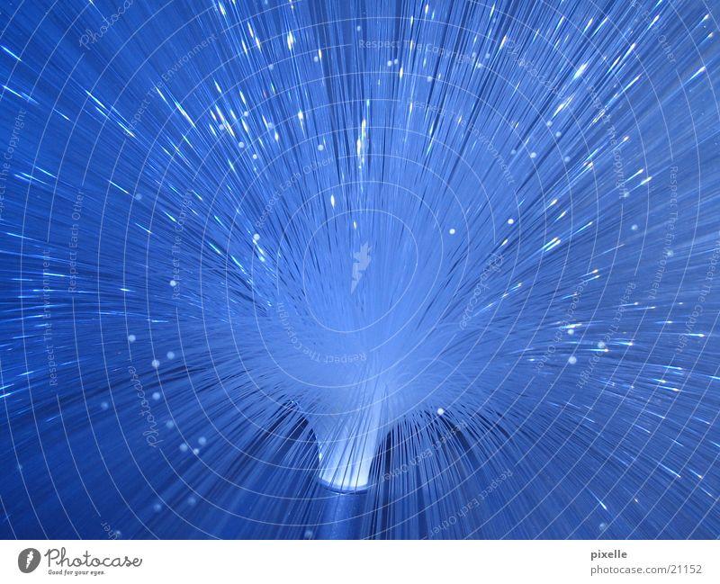Lichtwuschel_blau Lampe Beleuchtung Glasfaser