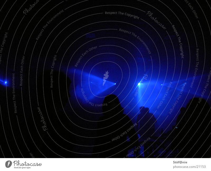 blue ligt 2 Licht Party Disco Lasershow Lightshow Menschengruppe blau Feste & Feiern Musik