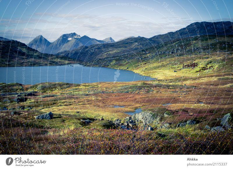 Land der Extreme Himmel Natur Ferien & Urlaub & Reisen Landschaft Einsamkeit ruhig Berge u. Gebirge Herbst See Stimmung Freizeit & Hobby Zufriedenheit