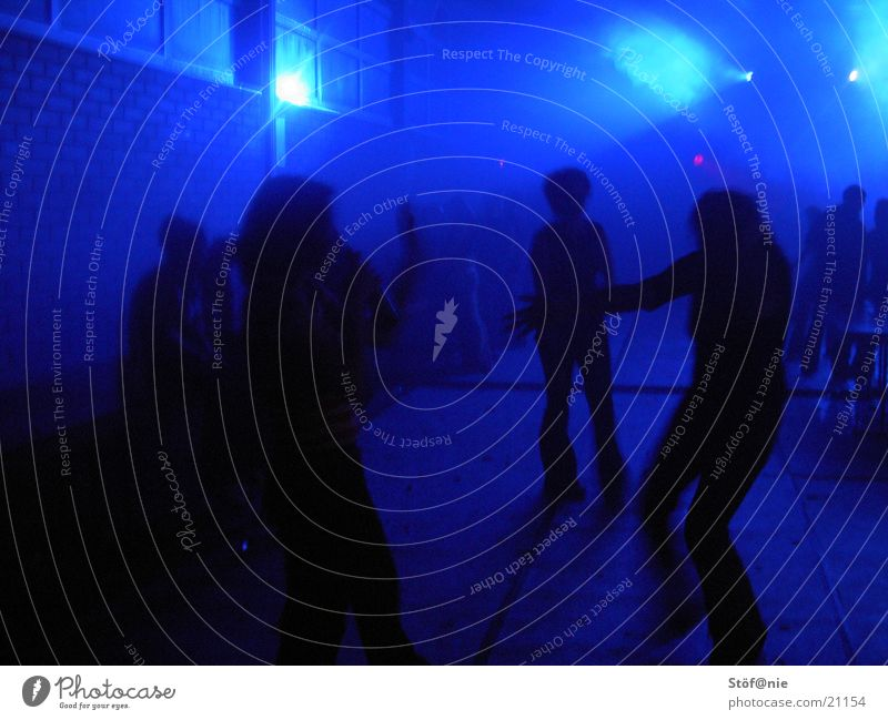 blue light blau Party Menschengruppe Tanzen Feste & Feiern Disco Lightshow Lasershow