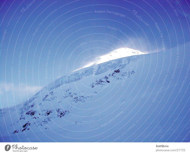 iceblue Winter Gletscher Berge u. Gebirge Kauntertaler Gletscher Dez 2002 Schnee Eis Östereich Kaunertal