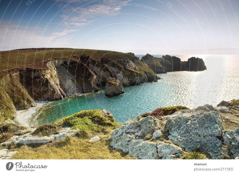 Bretagne IV, Pointe de Menhir Ferien & Urlaub & Reisen Tourismus Ferne Sommer Sommerurlaub Strand Meer Umwelt Landschaft Urelemente Schönes Wetter Hügel Felsen