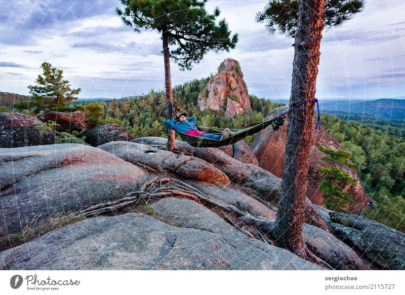 Das Leben ist wunderschoen Lifestyle Ferien & Urlaub & Reisen Tourismus Abenteuer Freiheit Camping Sommer Sonnenbad wandern Junge Frau Jugendliche 1 Mensch